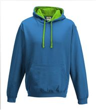 Picture of Varsity Hoodie Sapphire Blue - Lime Green