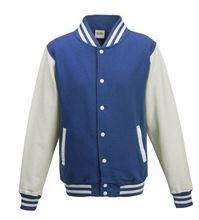 Picture of Base Ball Jacket  Royal Blauw-Wit