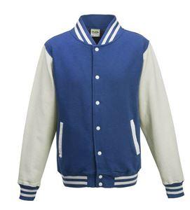Afbeelding van Base Ball Jacket  Royal Blauw-Wit