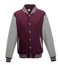 Picture of Base Ball Jacket  Burgundy - Heather Grey