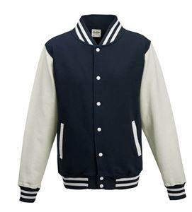 Afbeelding van Base Ball Jacket  Donkerblauw-Wit