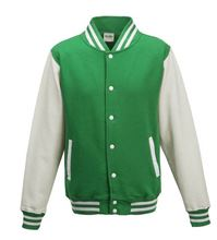 Picture of Kids Base Ball Jacket Kids Base Ball Jacket Kelly Green