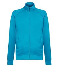 Picture of Lightweight Sweat Jacket Fruit of the Loom Azure Blue