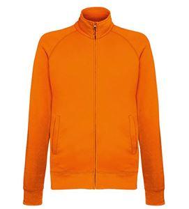 Afbeelding van Lightweight Sweat Jacket Fruit of the Loom Orange