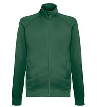 Picture of Lightweight Sweat Jacket Fruit of the Loom Bottle Green