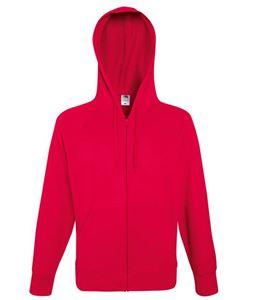 Afbeelding van Fruit of the Loom Lightweight Hooded Sweat Jacket Red