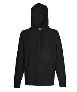 Afbeelding van Fruit of the Loom Lightweight Hooded Sweatshirt Black