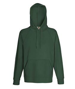 Afbeelding van Fruit of the Loom Lightweight Hooded Sweatshirt Bottle Green