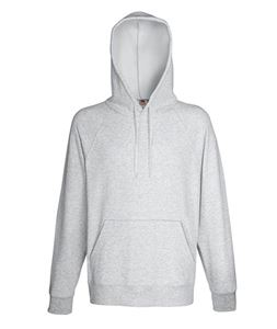 Afbeelding van Fruit of the Loom Lightweight Hooded Sweatshirt Heather Grey