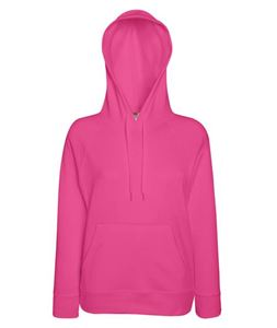 Afbeelding van Fruit of the Loom Lady-Fit Lightweight Hooded Sweatshirt Fuchsia