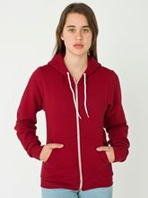 Picture of Unisex Flex Fleece Zip Hoodie van American Apparel Cranberry