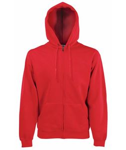 Afbeelding van Fruit of the Loom Classic Hooded Sweat Jacket Red