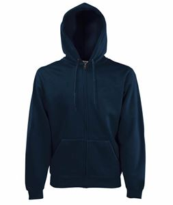 Afbeelding van Fruit of the Loom Classic Hooded Sweat Jacket Deep Navy