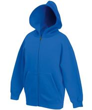 Picture of Premium Kids hooded sweat Jacket Fruit of the Loom Royal Blue