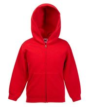 Picture of Premium Kids hooded sweat Jacket Fruit of the Loom Red