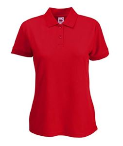 Afbeelding van Lady-fit 65/35 polo Fruit of the Loom Red