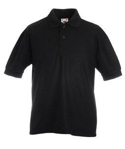 Afbeelding van Kids 65/35 Pique Polo Fruit of the Loom Black