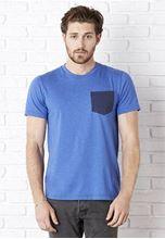 Picture of Men´s Jersey short sleeve Pocket T-shirt Heather True Royal/ Navy