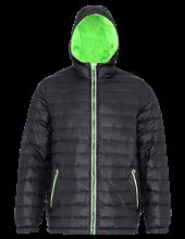 Picture of Padded Jacket van 2786 Black / Lime