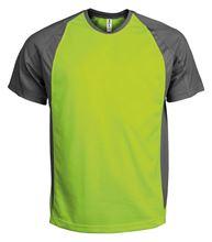 Picture of Tweekleurig sport T-Shirt Lime / Dark Grey