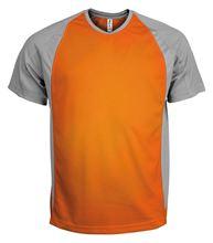 Picture of Tweekleurig sport T-Shirt Orange / Fine Grey