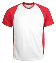 Picture of Tweekleurig sport T-Shirt White / Red