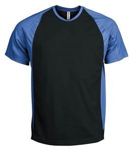 Afbeelding van Tweekleurig sport T-Shirt Black / Aqua Blue