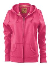 Picture of James & Nicholson Ladies Vintage Hoody Pink