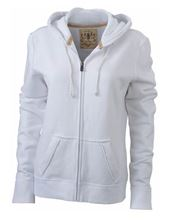 Picture of James & Nicholson Ladies Vintage Hoody White