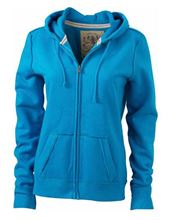 Picture of James & Nicholson Ladies Vintage Hoody Turquoise