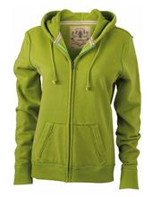 Picture of James & Nicholson Ladies Vintage Hoody Lime Green