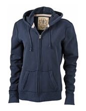 Picture of James & Nicholson Ladies Vintage Hoody Navy