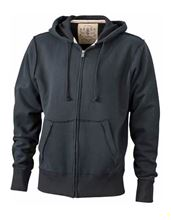 Picture of James & Nicholson Men´s Vintage Hoody Black