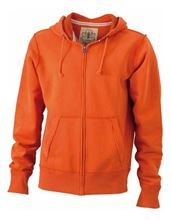 Picture of James & Nicholson Men´s Vintage Hoody Orange