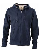 Picture of James & Nicholson Men´s Vintage Hoody Navy