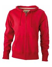 Picture of James & Nicholson Men´s Vintage Hoody Red