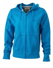 Picture of James & Nicholson Men´s Vintage Hoody Turquoise