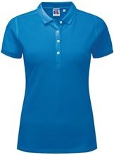 Picture of Dames Stretch polo van Russel Azure Blue