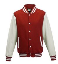 Picture of Kids Base Ball Jacket Fire Red / White