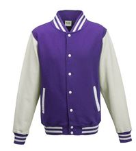 Picture of Kids Base Ball Jacket Jacket Purple / White