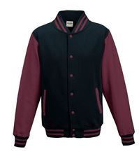 Picture of Kids Base Ball Jacket Oxford Navy / Burgundy