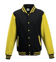 Picture of Kids Base Ball Jacket Jet Black / Sun Yellow