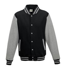 Picture of Kids Base Ball Jacket Jet Black / Heather Grey