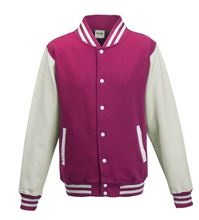 Picture of Kids Base Ball Jacket Hot Pink / White
