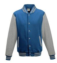 Picture of Kids Base Ball Jacket Sapphire Blue / Heather Grey