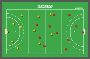 Sportec Magnetisch Coachbord Hockey Klein