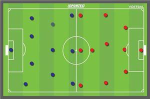 Afbeelding van Sportec Magnetisch coachbord Voetbal 90 x 60 cm