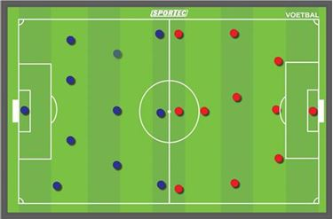 Picture of Sportec Magnetisch coachbord Voetbal 90 x 60 cm