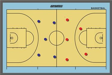 Picture of Sportec Magnetisch coachbord Basketbal groot