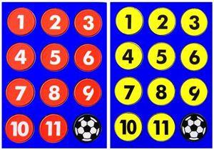 """Afbeelding van platte magneten """"voetbal"""""""